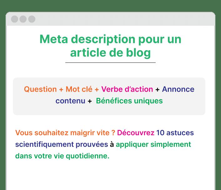 exemple meta description pour un article de blog
