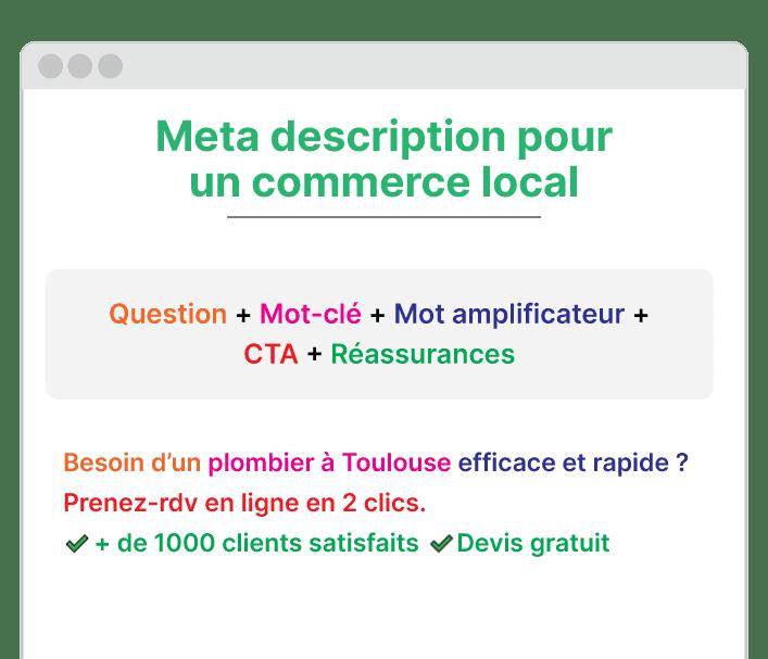 exemple meta description pour un commerce local