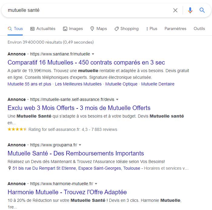 meta description google ads