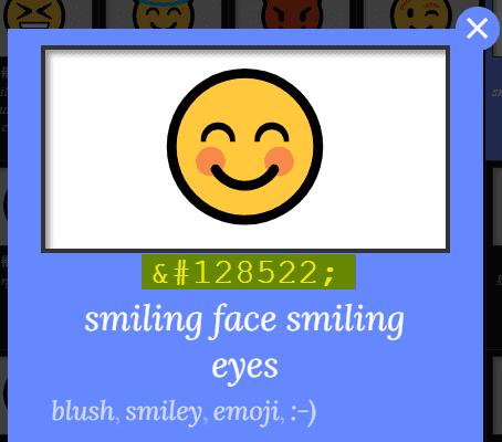 un emoji en unicode html